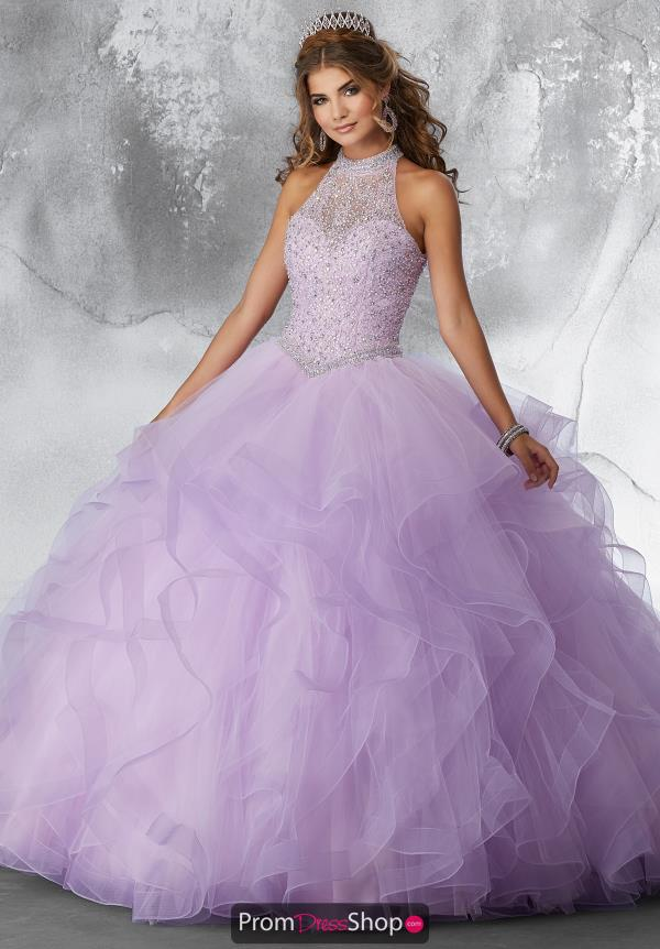Vizcaya Quinceanera Tulle Skirt Beaded Gown 89189