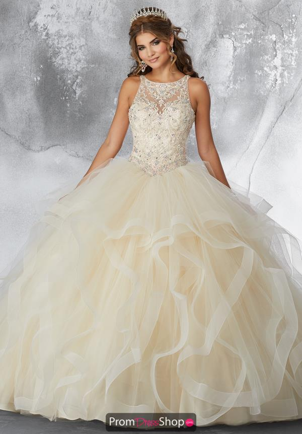 Vizcaya Quinceanera High Neckline Beaded Gown 89194