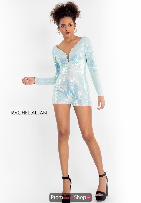 f13f6f3f43 Long Sleeve Sequin Rachel Allan Romper 4593