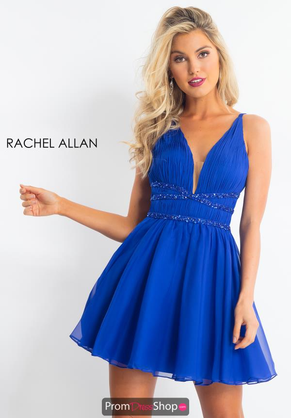 Rachel Allan Short Chiffon Dress 4624