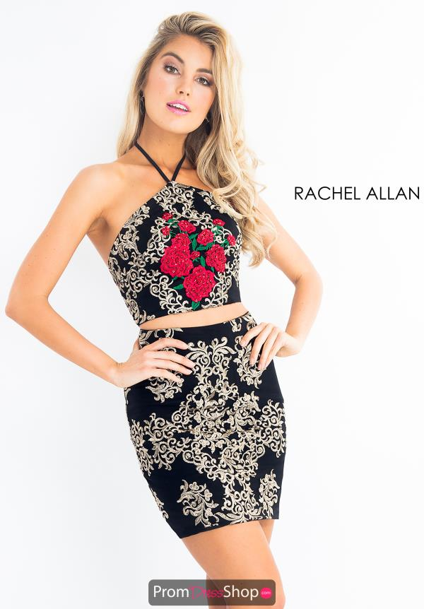 Rachel Allan Two Piece Halter Dress 4631