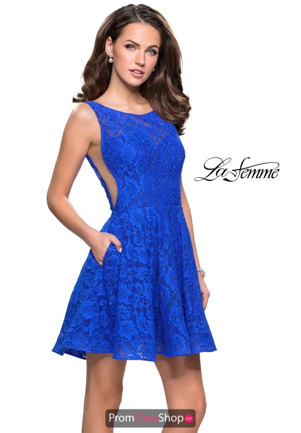 La Femme Short Flowy Dress 26616