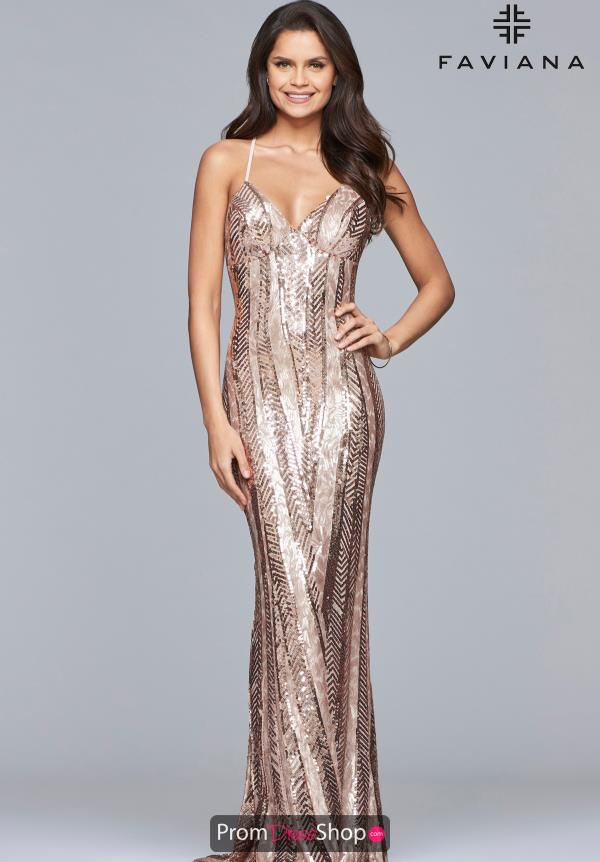 Faviana Long Sequins Dress ES10112
