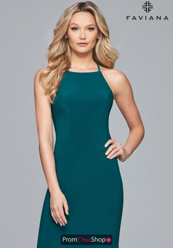 Faviana Short Jersey Dress S10166