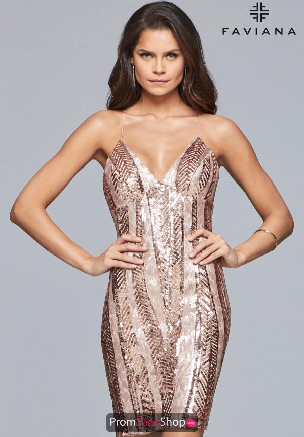 Faviana Fitted Sequins Dress S10171