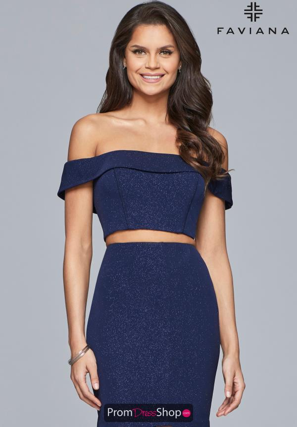 Faviana Off the Shoulder Short Dress S10180