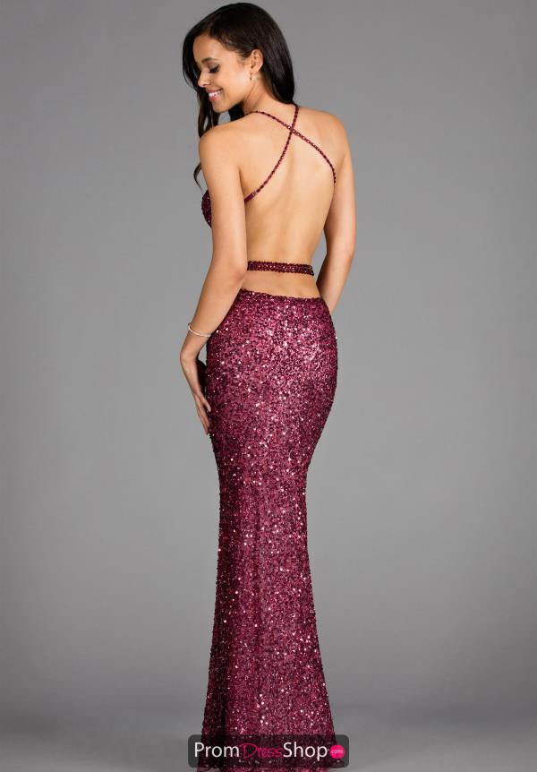 Scala Long Fitted Prom Dress 48389