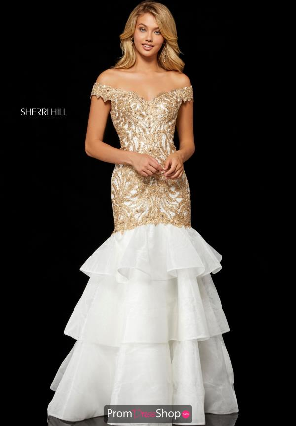 Sherri Hill Long Lace Dress 52347