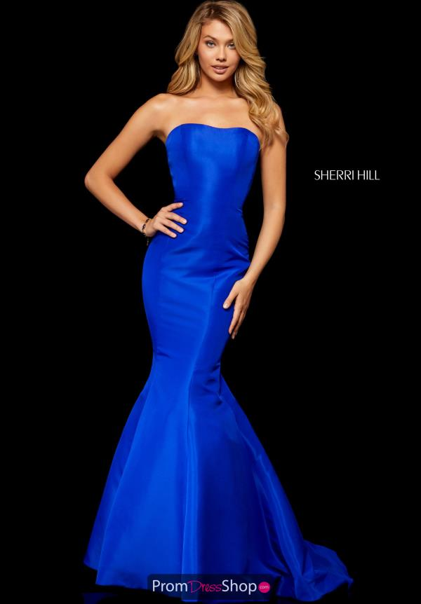 Sherri Hill Taffeta Mermaid Dress 52390