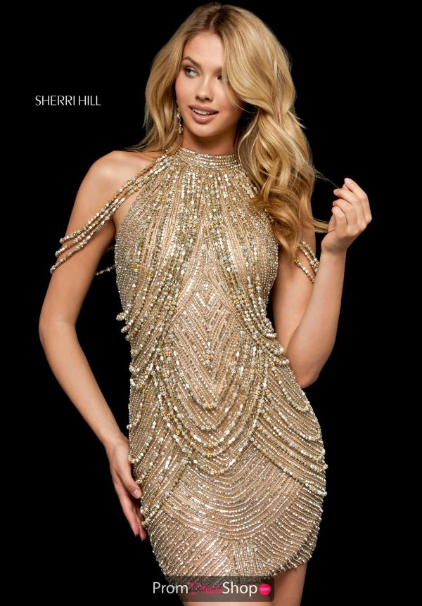 Sherri Hill Short Beaded Dress 52098