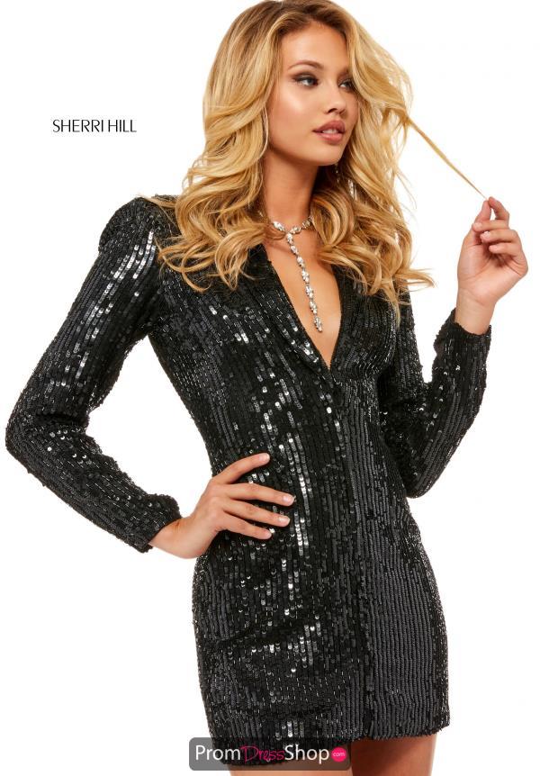 shop for best best wholesaler offer discounts Sherri Hill Long Sleeve Short Dress 52125