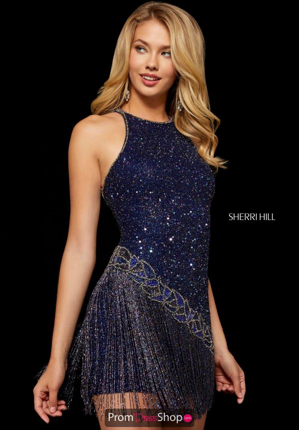 Sherri Hill Beaded Short Dress 52131