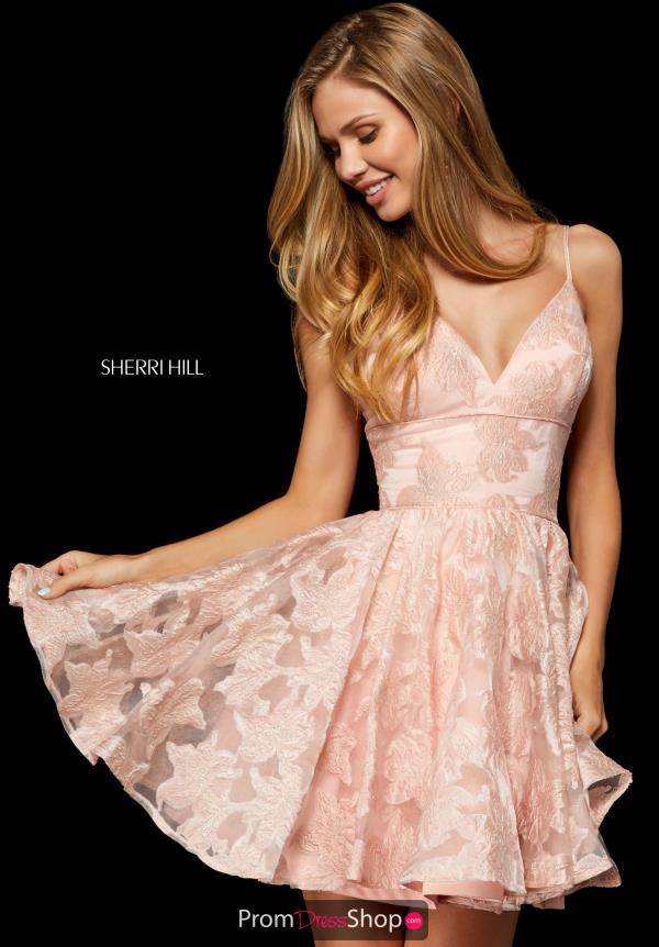 Sherri Hill Short Vintage A-Line Dress 52385