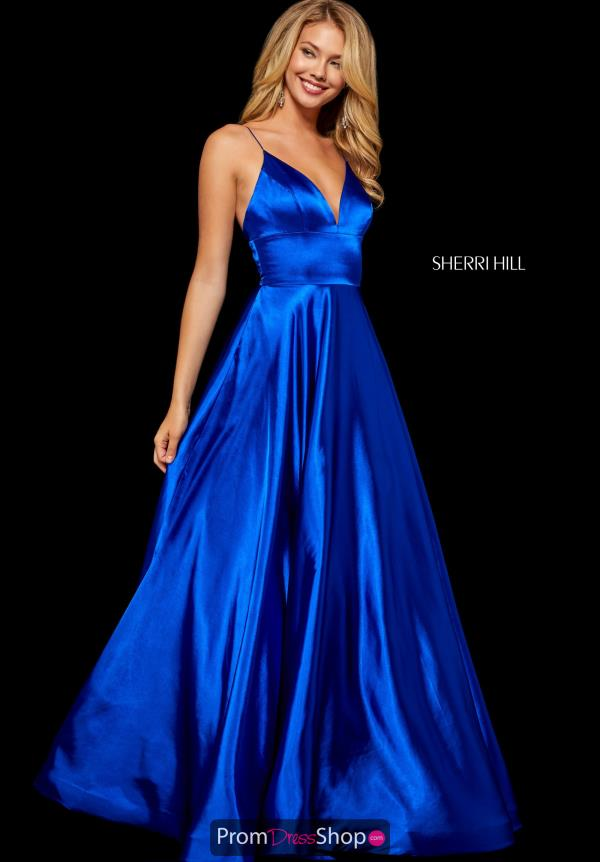 Sherri Hill Long Satin Dress 52195