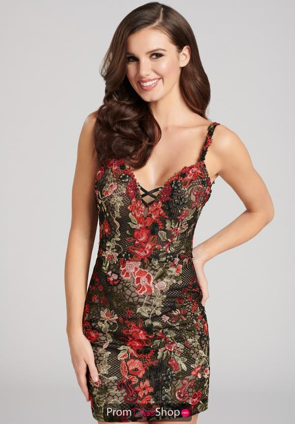 Ellie Wilde Fitted Floral Dress EW21805S