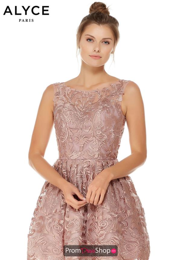 Alyce Paris Short Lace Dress 3761