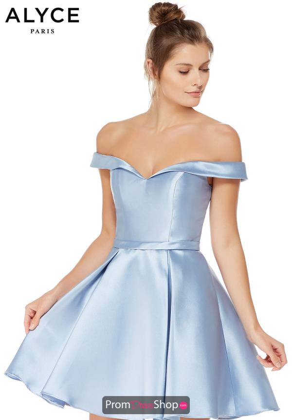 Alyce Paris Off the Shoulder A Line Dress 3766