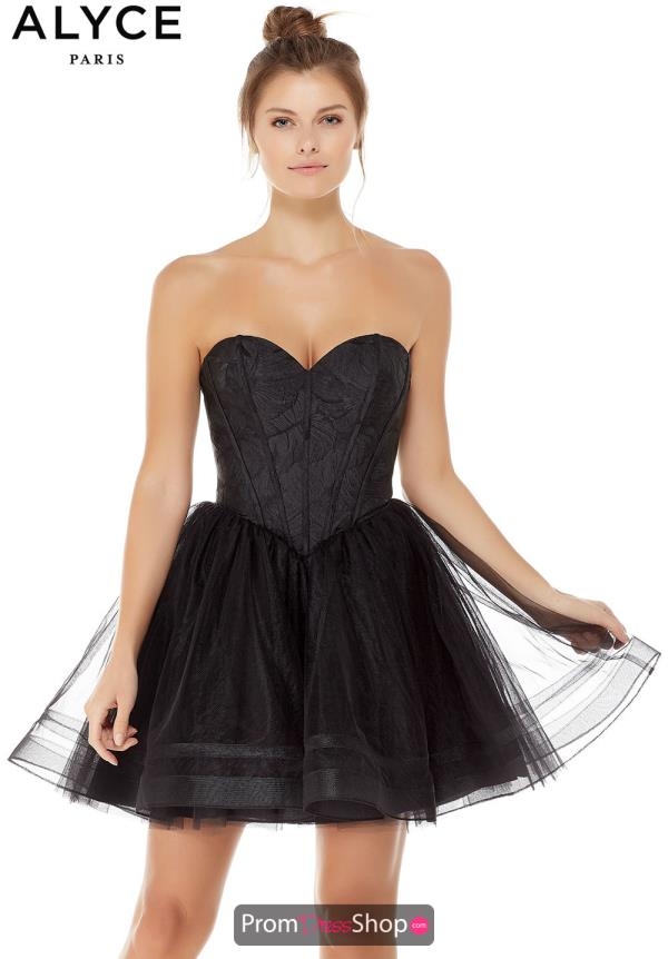 Alyce Paris Strapless Tulle Dress 3791