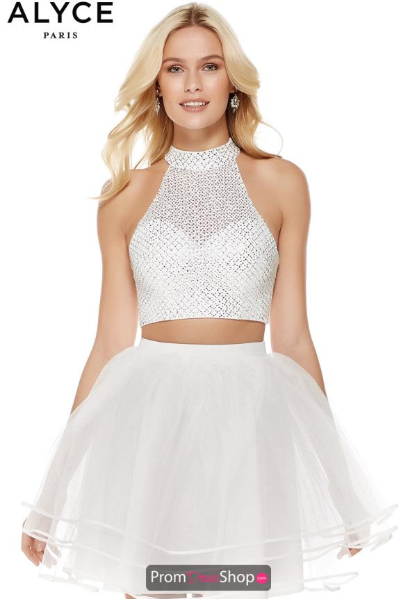Alyce Paris Beaded Two Piece A Line 3821