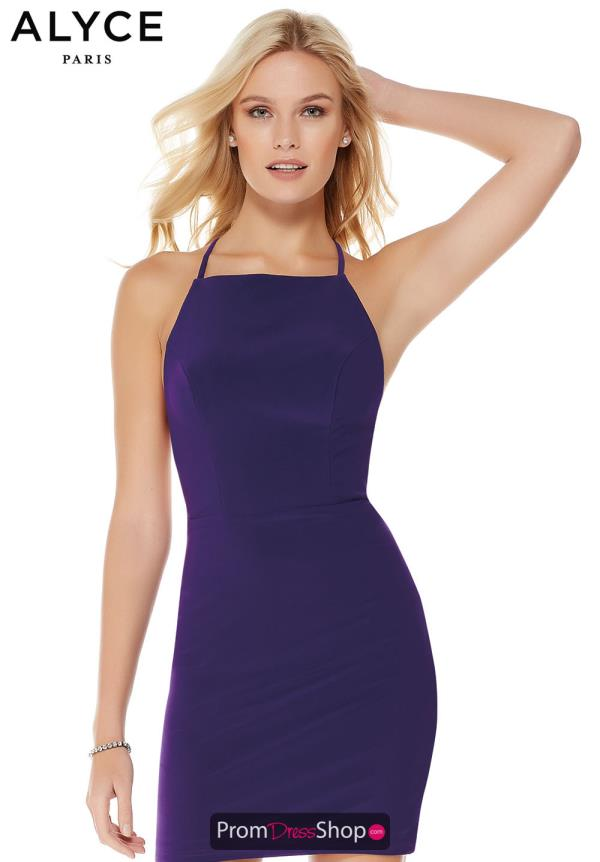 Alyce Paris Jersey Fitted Short Dress 4002