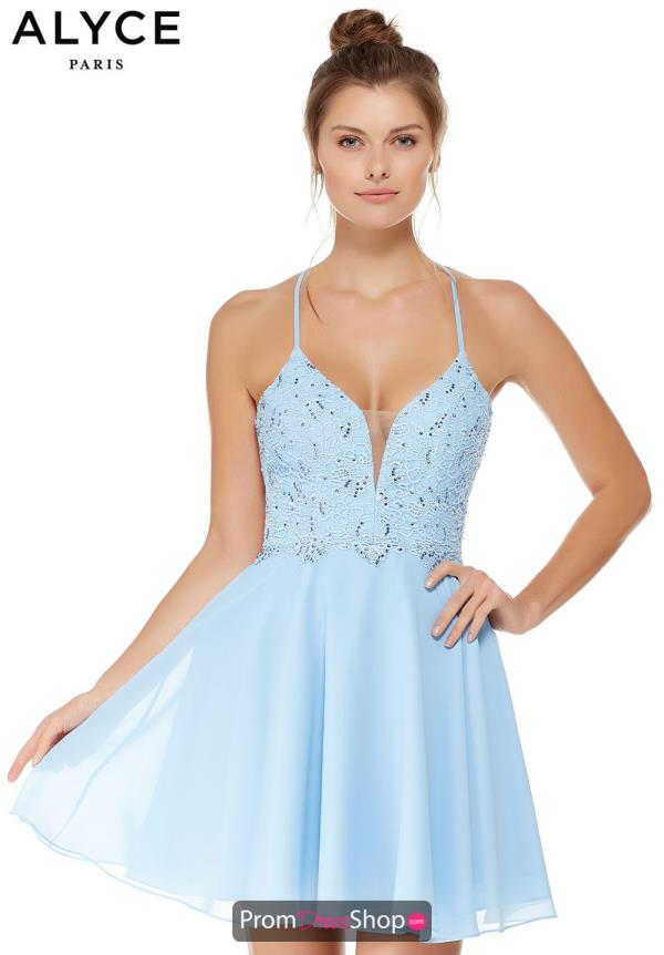 Alyce Paris Short Beaded Dress 4049