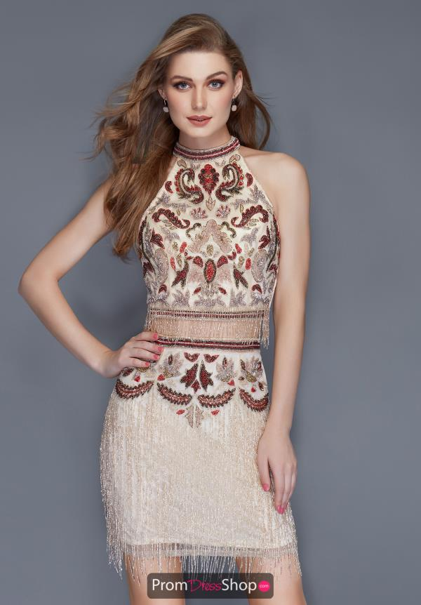 Primavera Short Beaded Dress 3106