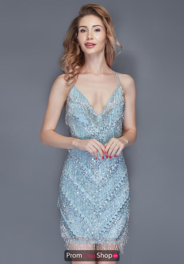 Primavera Fringe Beaded Dress 3131