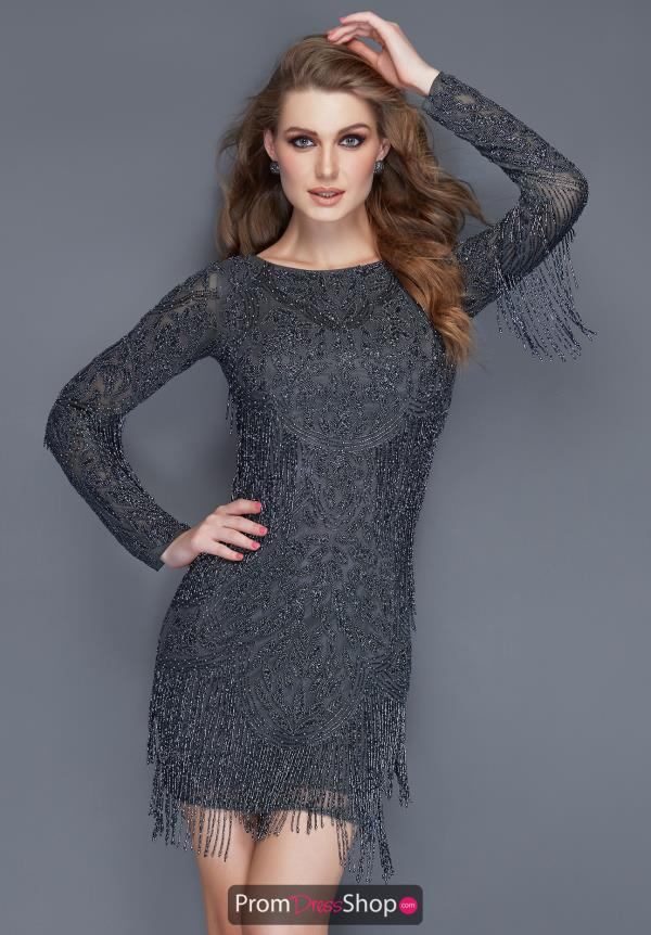 Primavera Long Sleeve Fitted Fringe Dress 3152