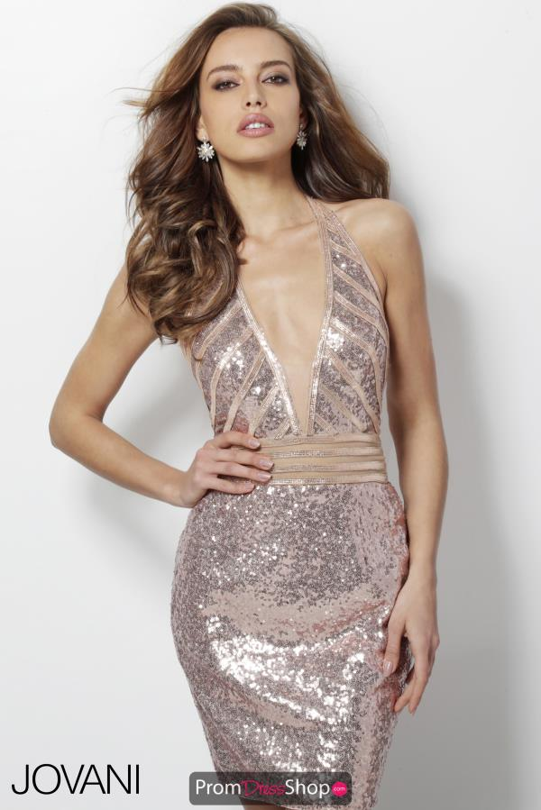 Jovani Short Sequins Dress 62291