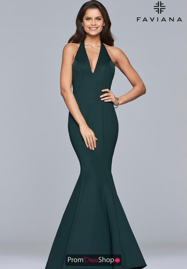 Faviana Long Fitted Dress 10105