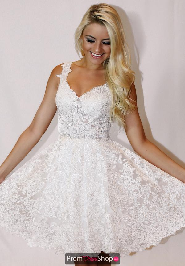 Sherri Hill Short Lace Dress 51521