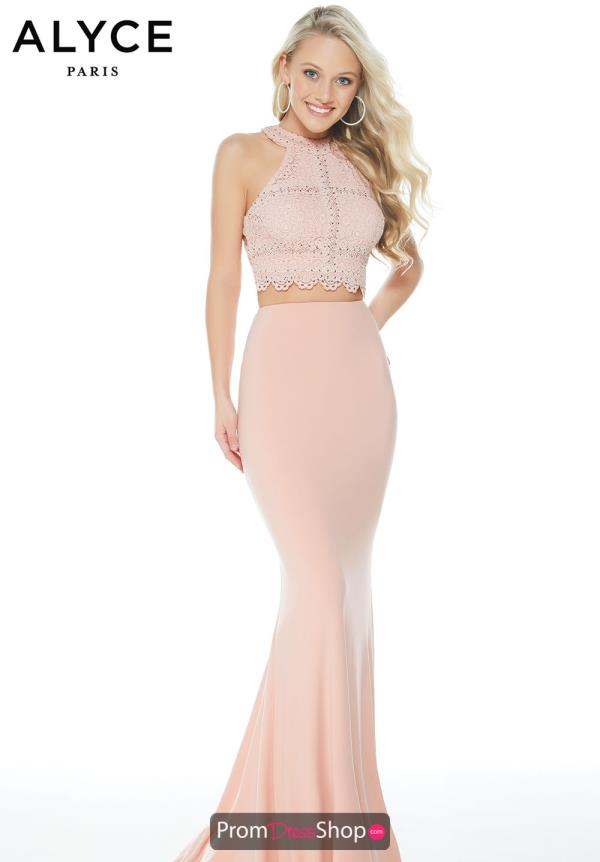 Alyce Paris Long Jersey Dress 60248