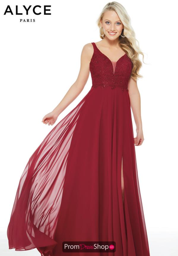 Alyce Paris Long A Line Dress 60254