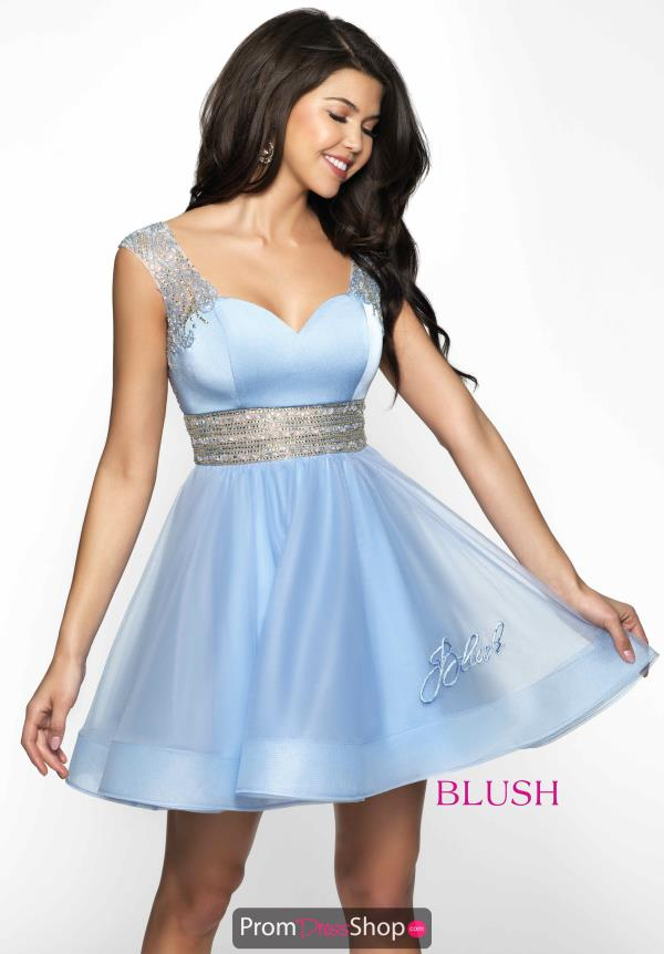 Beaded A-line Blush Dress 11611N