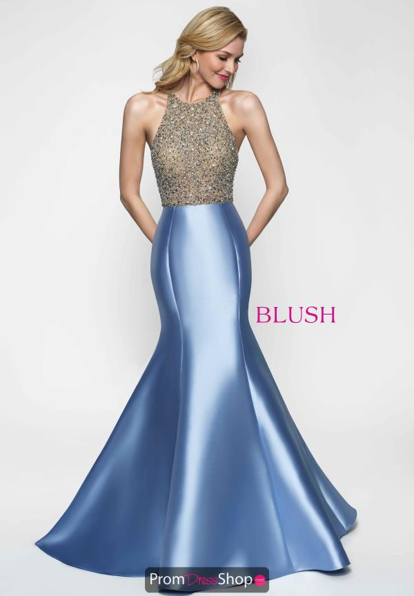 Beaded Mermaid Blush Dress 11633