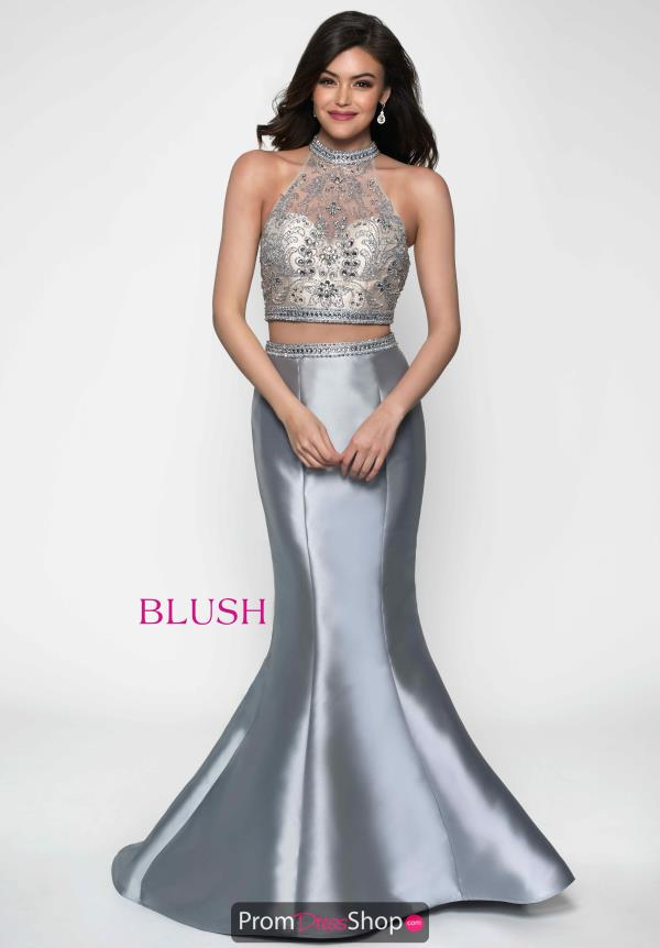 Two-Piece Mermaid Blush Dress 11635