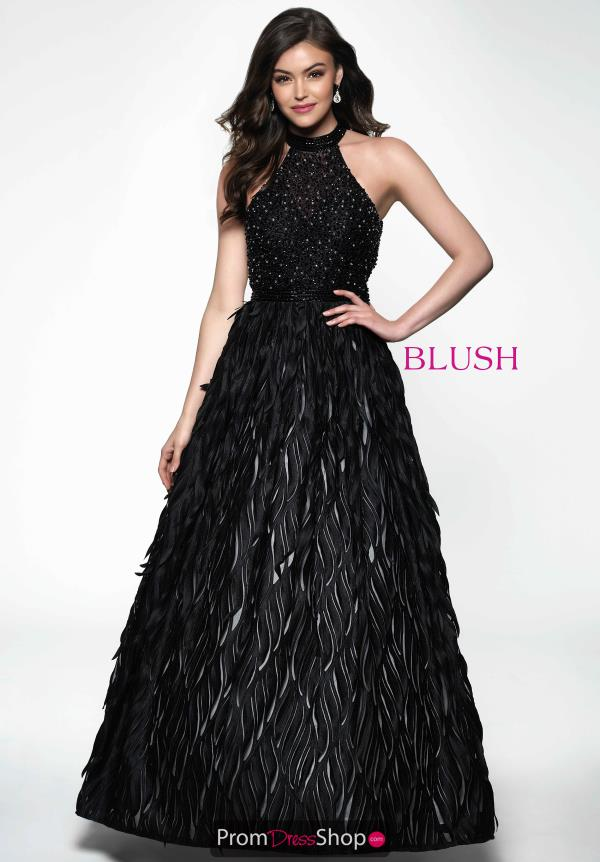 Feather A-Line Blush Dress 11641
