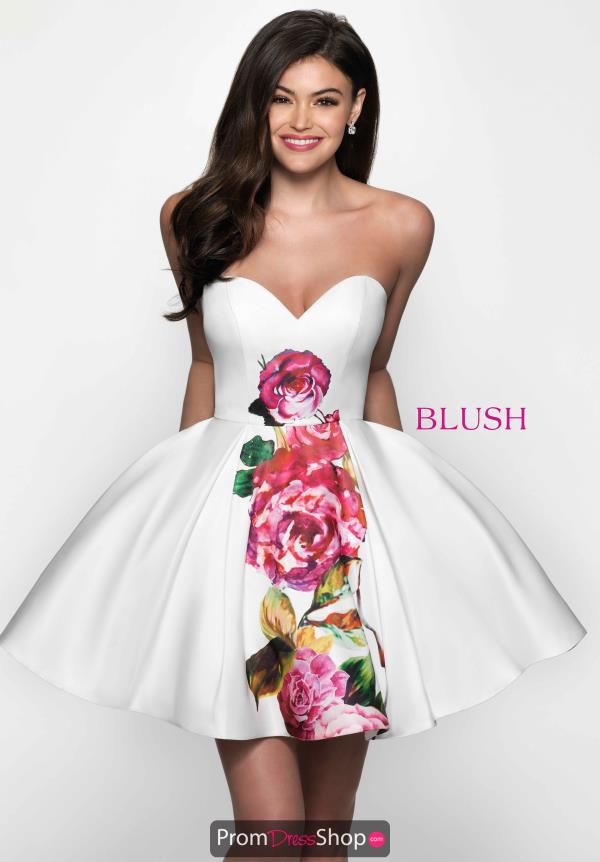 Sweetheart Floral Blush Dress C1105