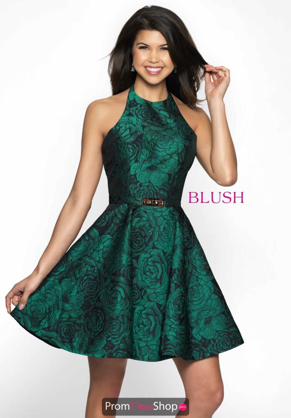 Halter Floral Blush Dress C1119
