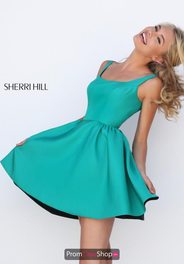 Sherri Hill Short Two Straps A Line Dress 50330