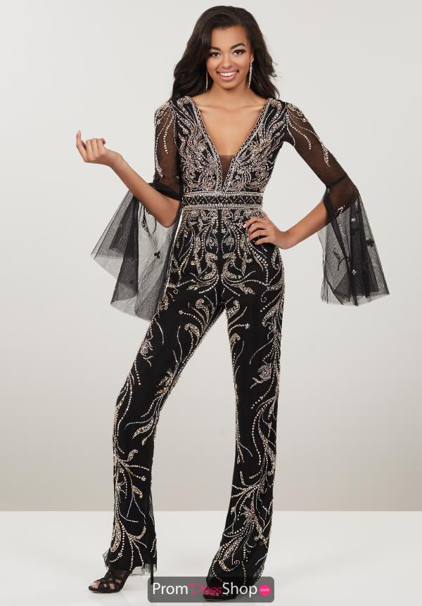 Panoply Long Sleeve Beaded Jumpsuit 14960