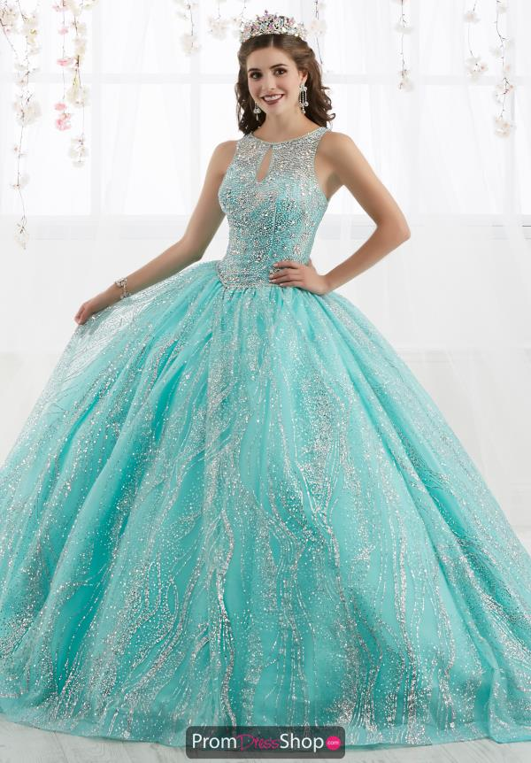 Tiffany Quinceanera High Neckline Ball Gown 26915
