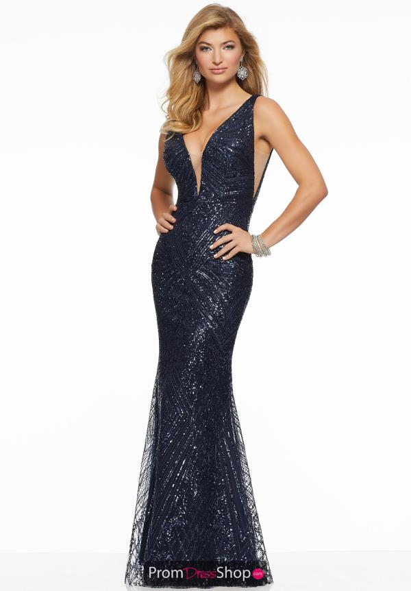 Mori Lee Fitted Long Dress 43007
