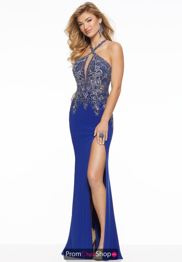Mori Lee Halter Fitted Dress 43030
