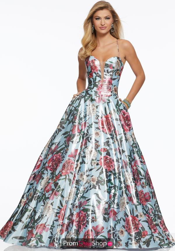 Mori Lee Satin Full Figured Dress 43035