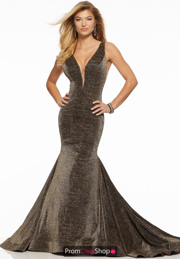 Mori Lee Mermaid V-Neck Dress 43038