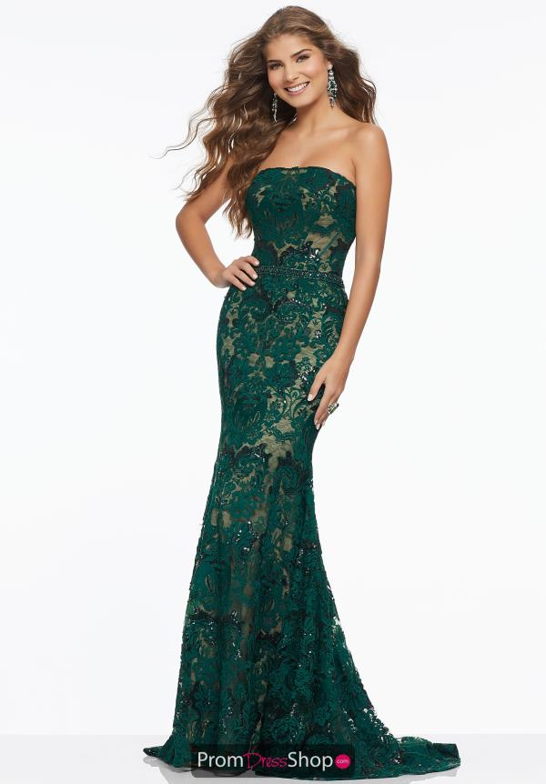 Mori Lee Full Figured Lace Dress 43045