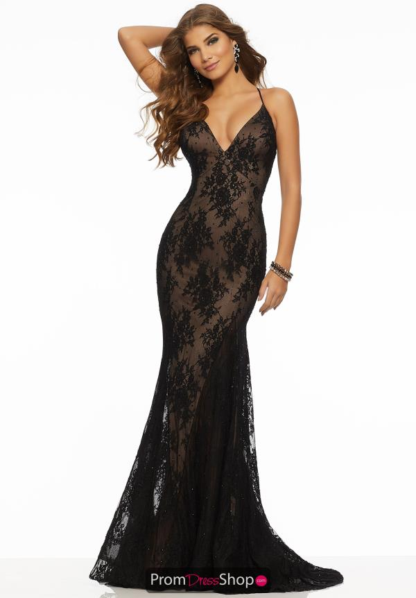 Mori Lee V-Neck Lace Dress 43054