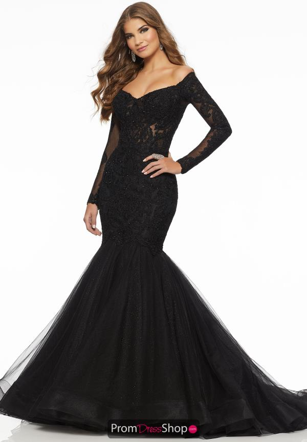 Mori Lee Long Sleeve Lace Dress 43060