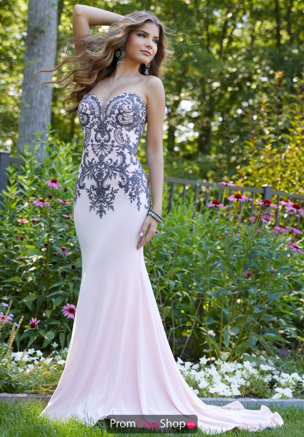 Mori Lee Beaded Sweetheart Dress 43075